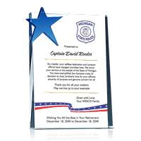 Stars and Stripes Patriotic Police Officer Retirement Gift Plaque