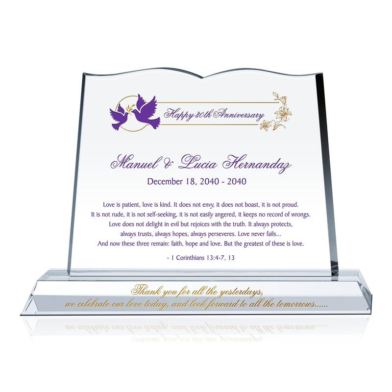 Endless Love Bible Anniversary Plaque