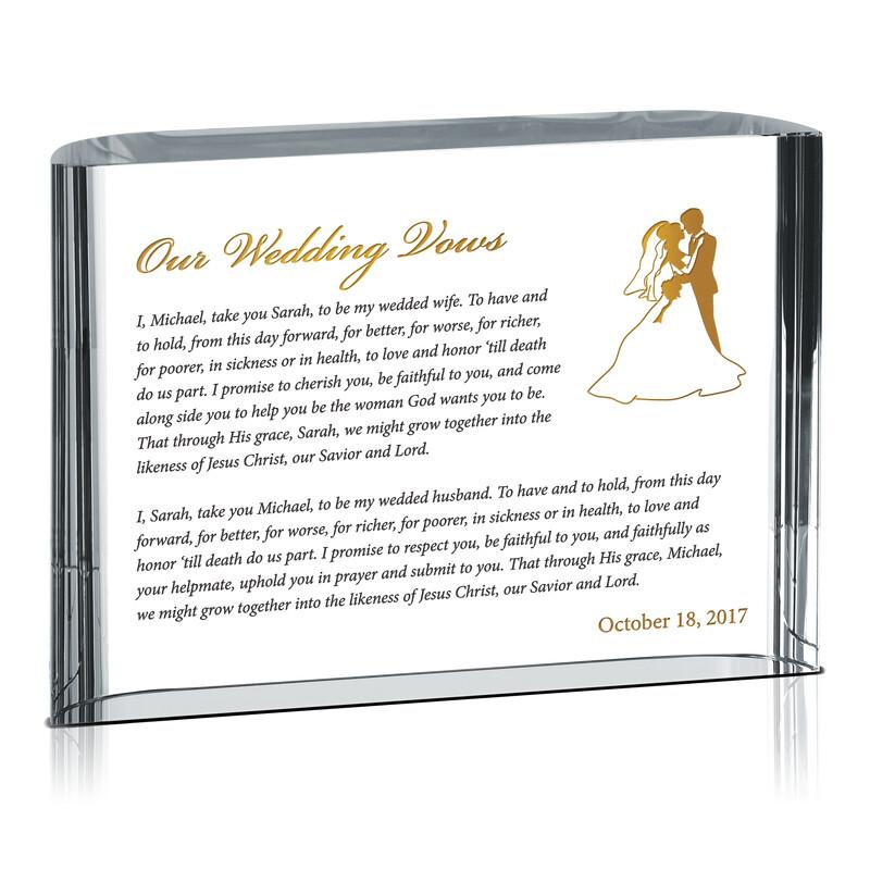 Our Wedding Vows Spiritual Gift