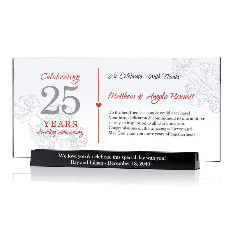 Custom Silver Wedding Anniversary Gift for Couple