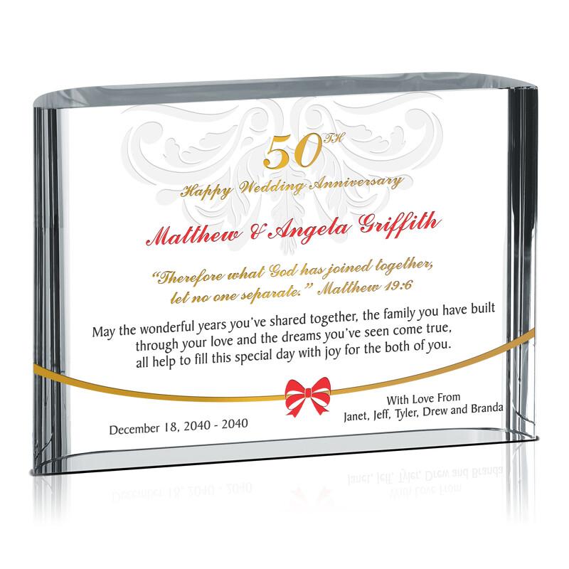Custom Christian 50th Golden Wedding Anniversary Gift for Couple