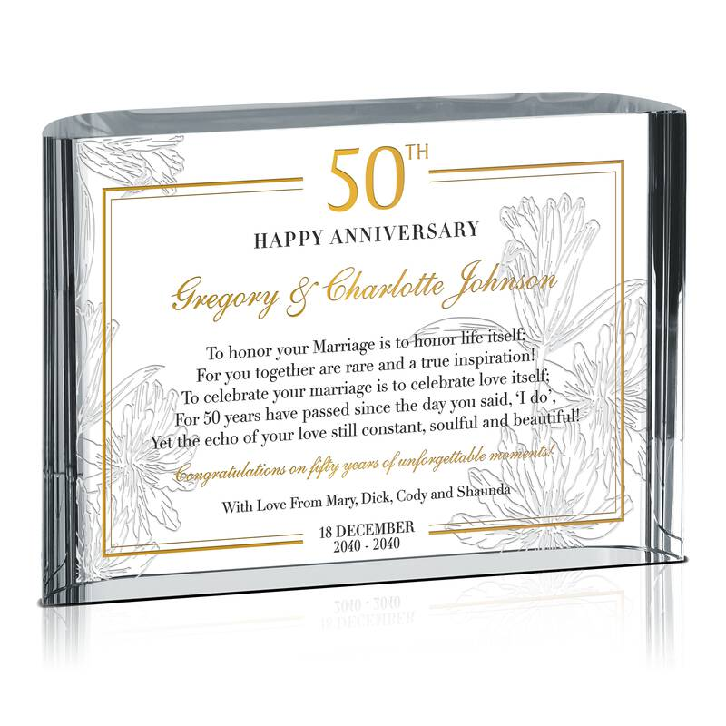 Personalized 50th Wedding Anniversary Gift for Couple