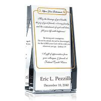 Personalized Crystal Religious Retirement Plaque