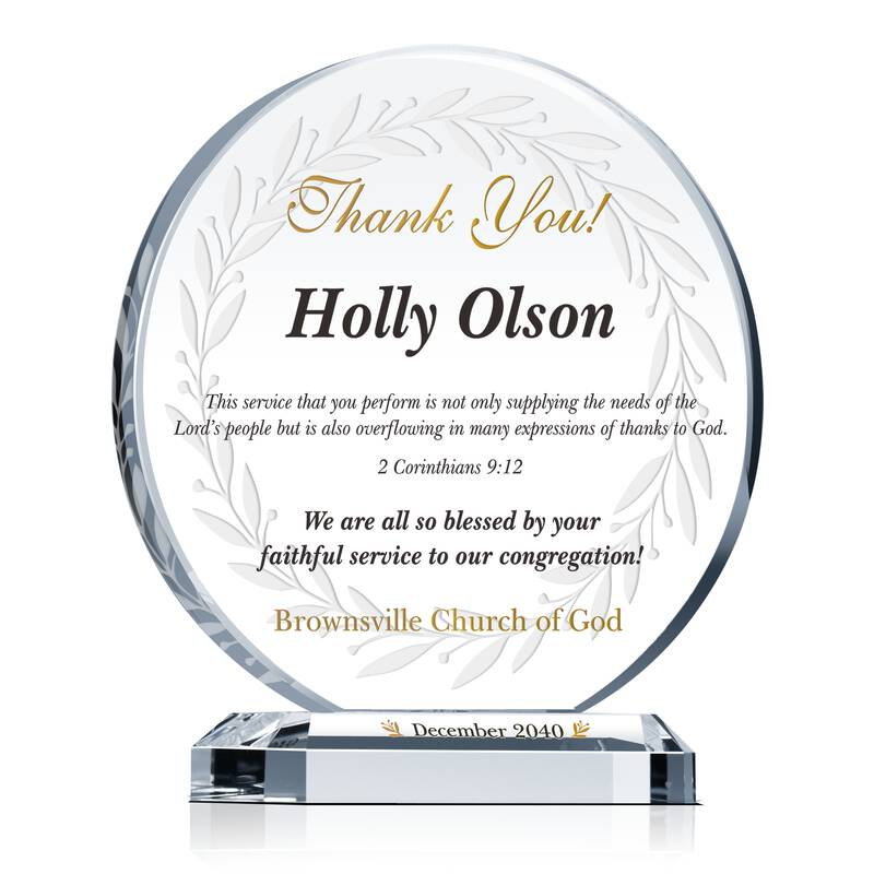 Church Appreciation Gift Plaque