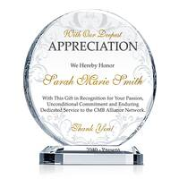 Circle Appreciation Gift Plaque