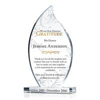 Personalized Crystal Corporate Retirement Appreciation Award