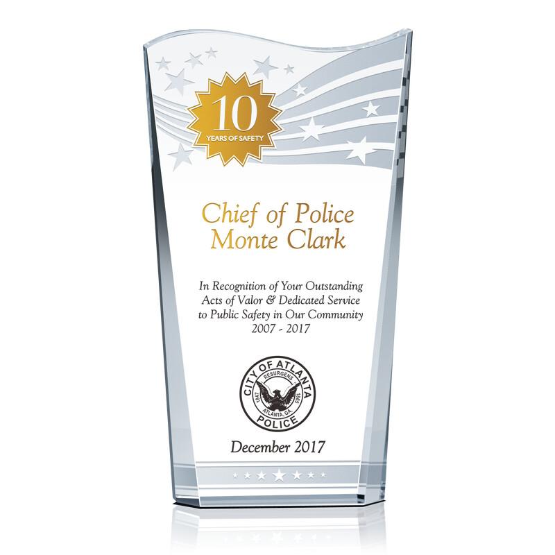 Police Safety Leadership Award Plaque