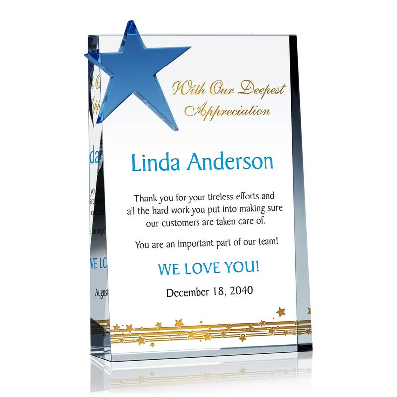 Star Employee Recognition Plaque