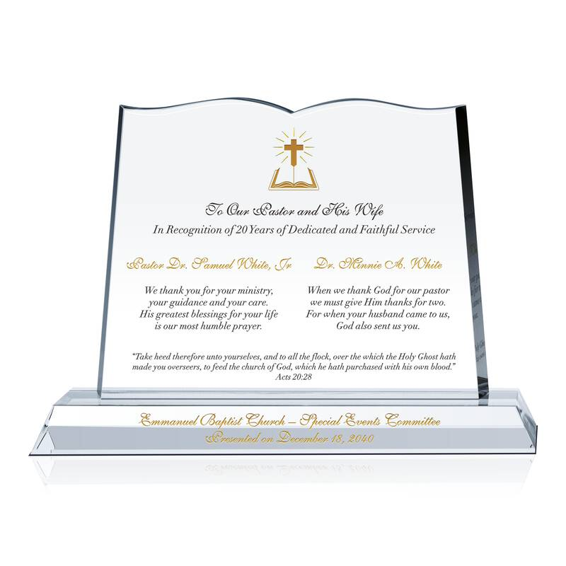 Pastor Appreciation Day Plaque