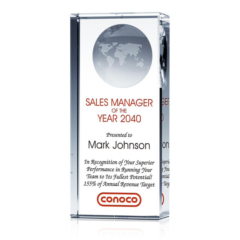 Top Sales Manager Award Pillar