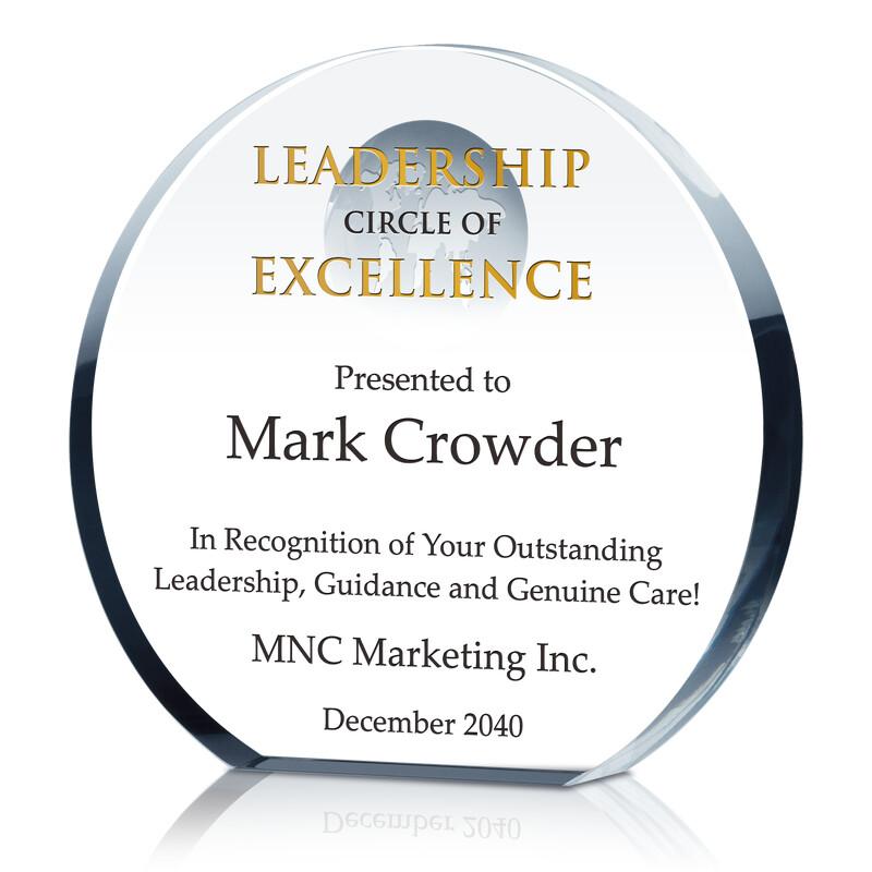 Crystal Globe Leadership Circle of Excellence Award