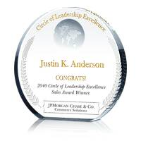 Crystal Globe Circle of Leadership Award Trophy