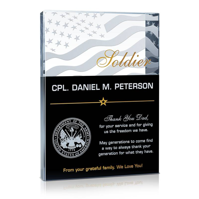Army Soldier Thank You Gift
