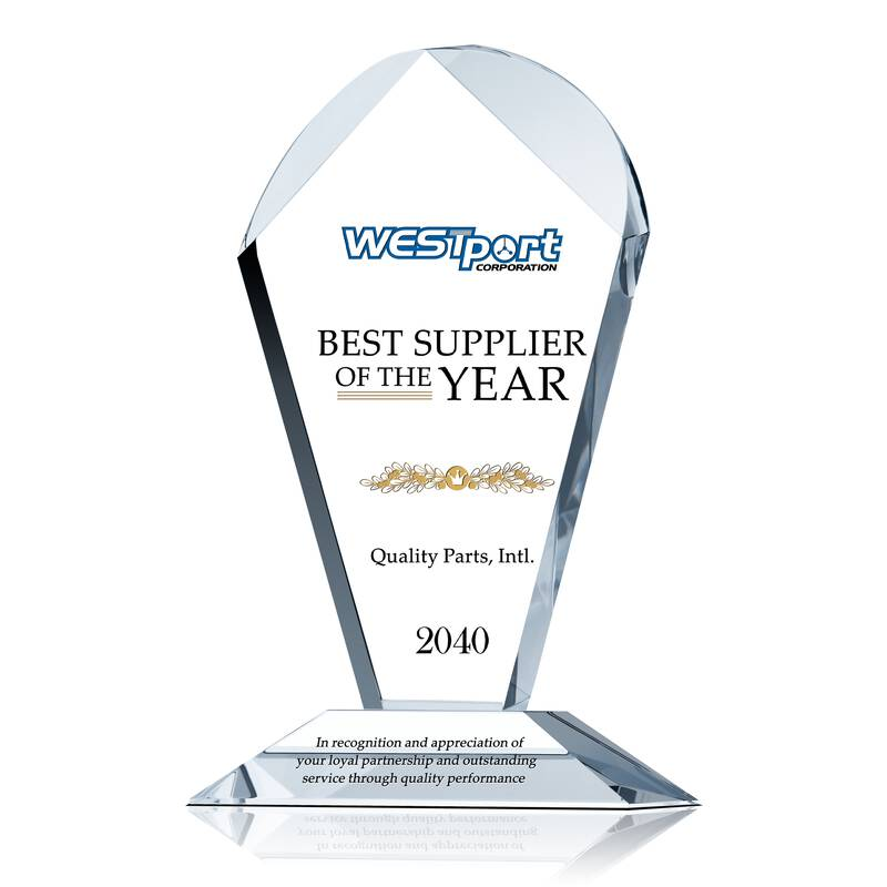 Best Supplier of the Year Award Plaque