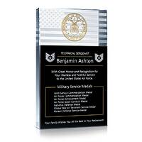 Air Force Service Medals Gift Plaque