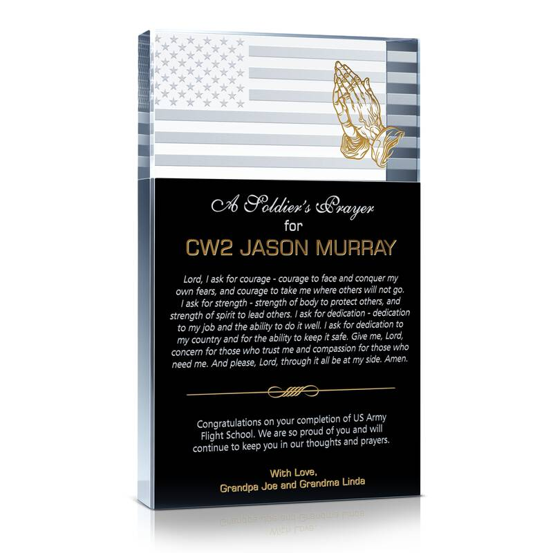 Army Soldier's Prayer Plaque
