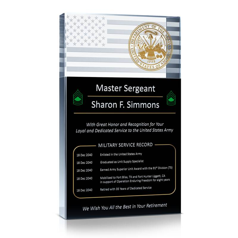 Army Service Retirement Gift