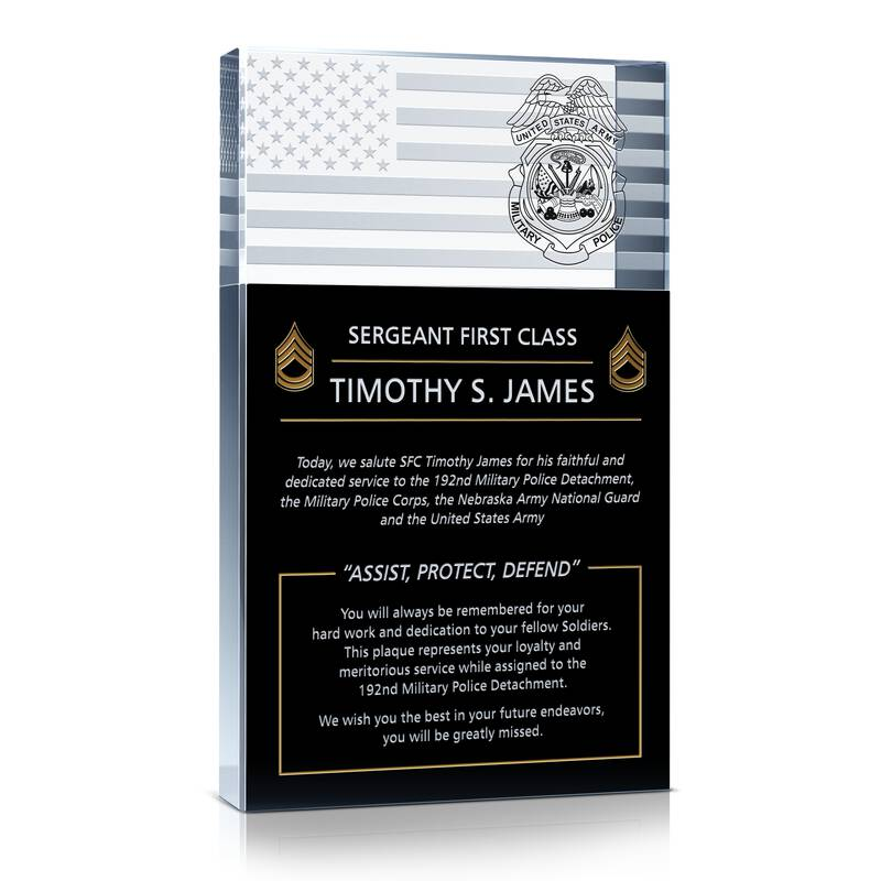 Military Police Retirement Gift