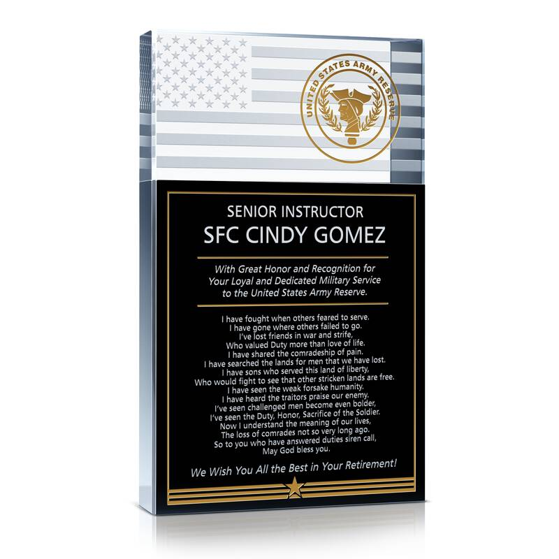 Army Reserve Retirement Gift