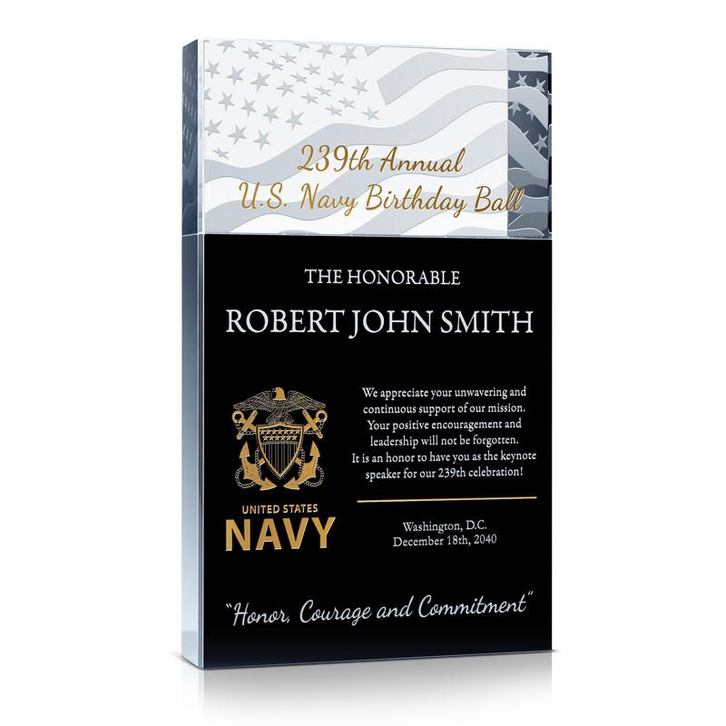 US Navy Birthday Ball Speaker Appreciation