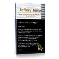 Custom Engraved Crystal A Navy's Mom's Prayer Gift Plaque