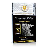 Personalized Crystal Army's Wife Prayer Gift Plaque