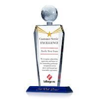 Custom Crystal Globe Customer Service Excellence Award