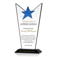 Personalized Crystal Employee Appreciation Award Plaque