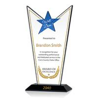Custom Crystal Star Employee Excellence Award