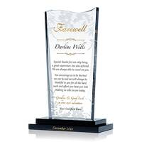 Personalized Crystal Boss Farewell Thank You Gift