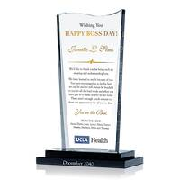 Personalized Crystal Boss's Day Gift Plaque