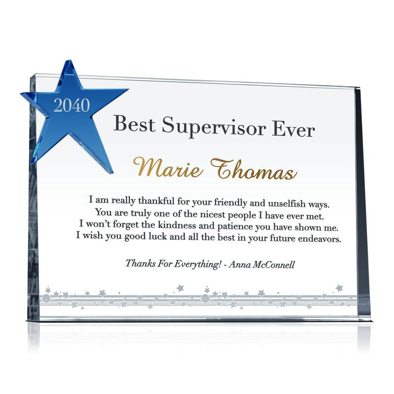 Recognition Gift for Best Supervisor