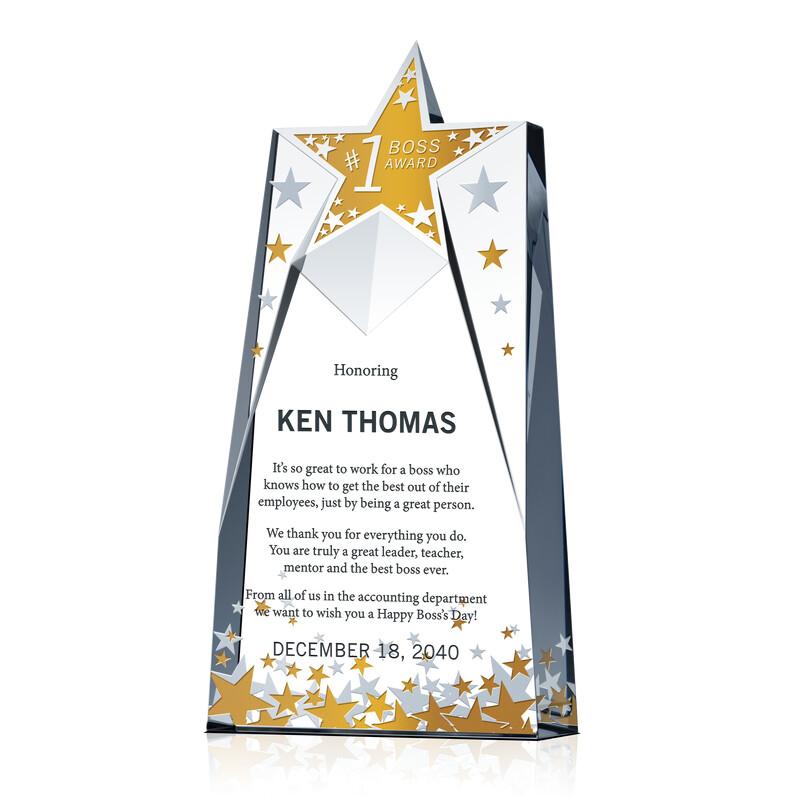 Star Boss Achievement Award Idea