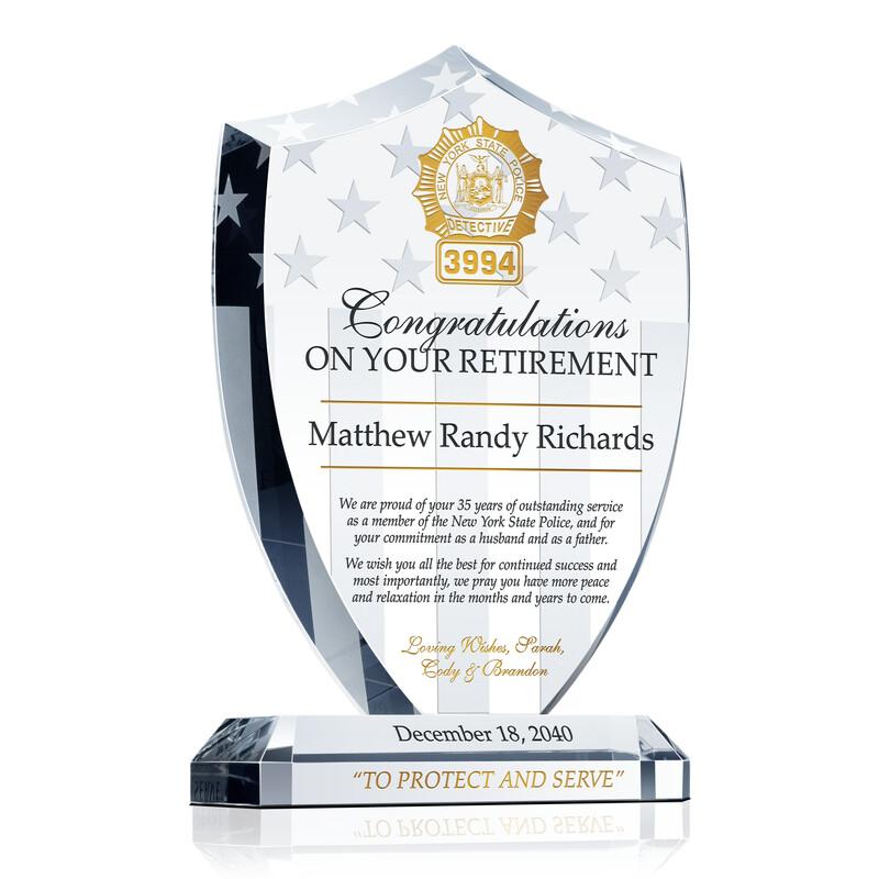 Police Detective Retirement Gift