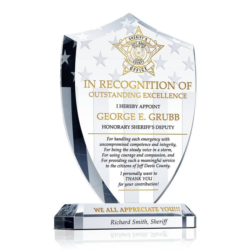 Sheriff's Deputy Appreciation Award