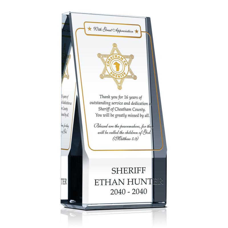 Religious Retirement Award for Sheriff