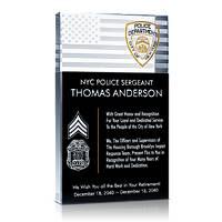 Police Sergeant Retirement Plaque