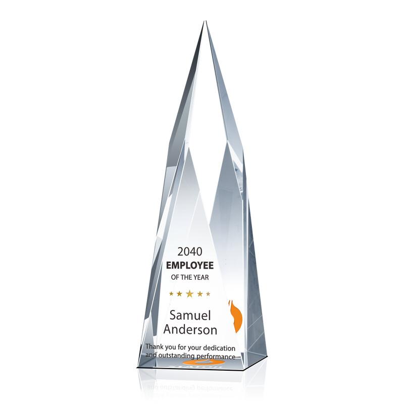 Summit Shaped Crystal Employee of the Year Award