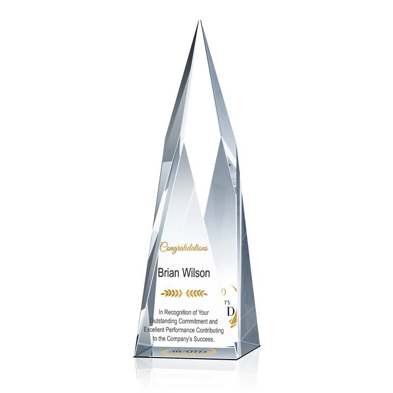 Personalized Crystal President's Award Trophy