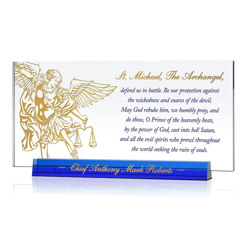 St Michael Prayer Gift Plaque for Police chief