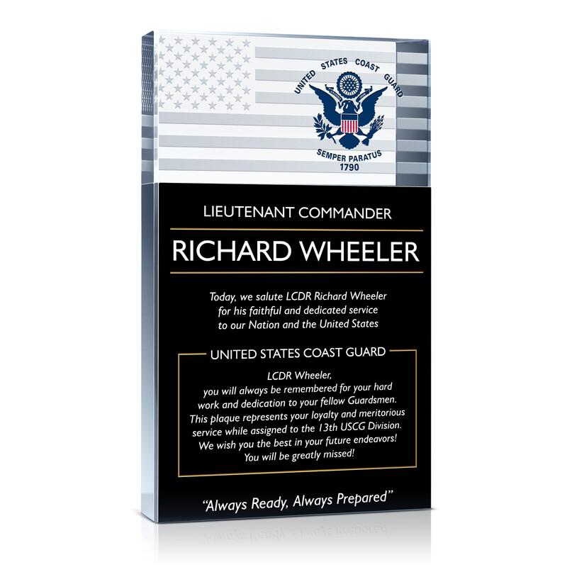 USCG Commander Retirement Plaque