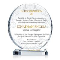 Sample Officer Recognition Plaque
