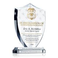 ICE Officer Recognition Plaque