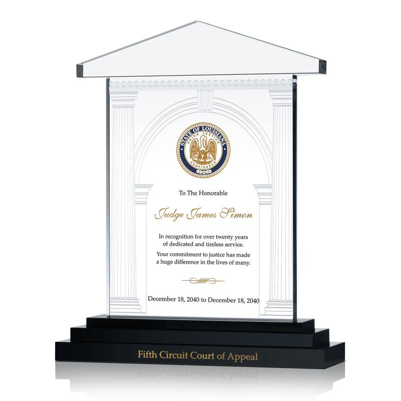 Court Judge Recognition Award