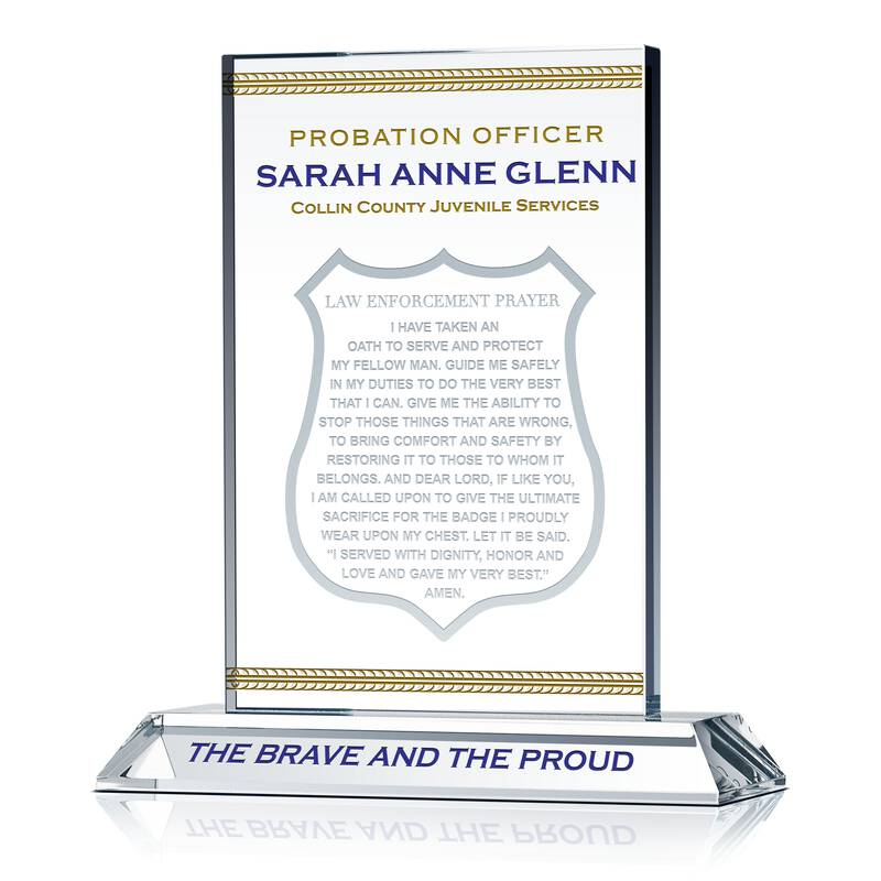 Probation Officer Prayer Plaque