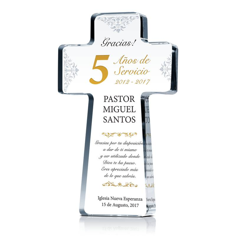 Placa/Regalo de Reconocimiento del Aniversario Pastoral