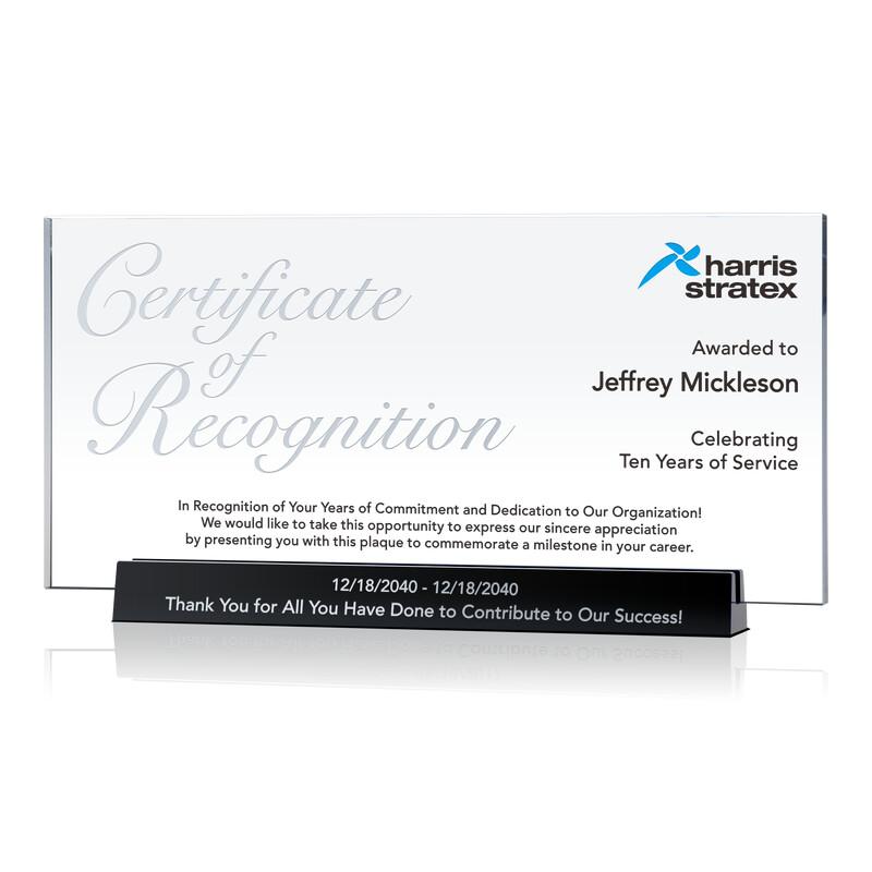 Sample Service Recognition Certificate Ideas