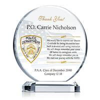 NYPD Graduation Gift Plaque