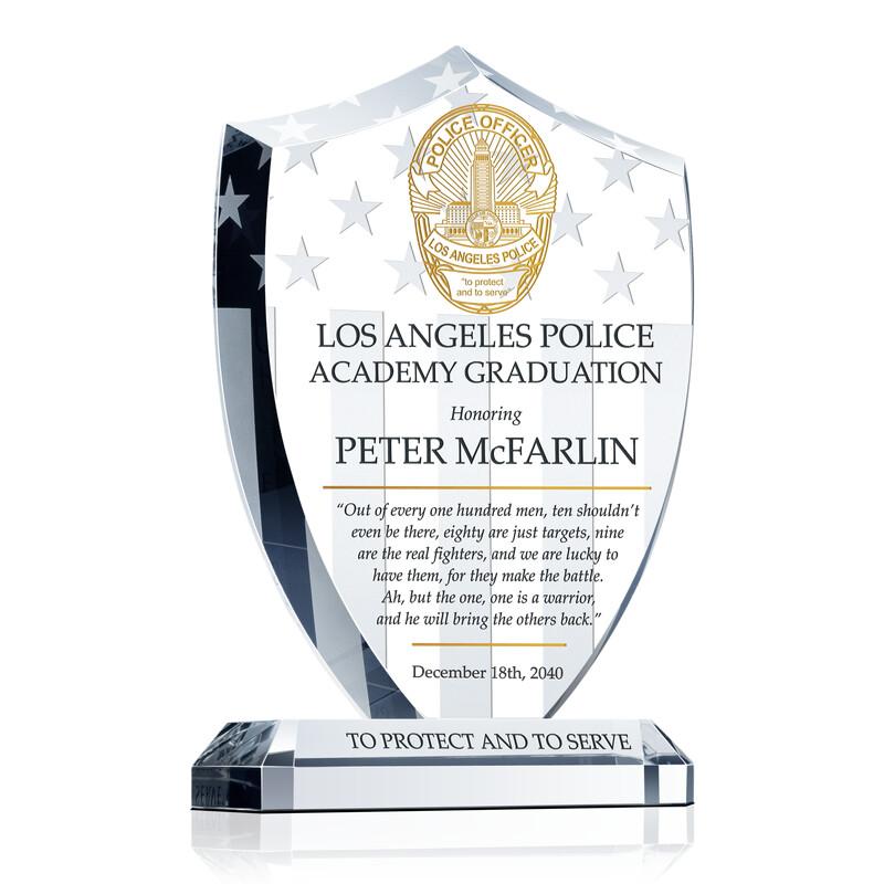 LAPD Academy Graduation Award Plaque