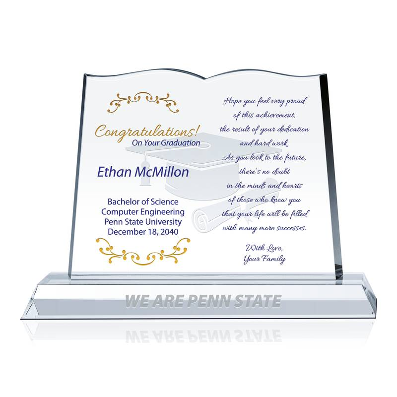 Crystal Graduation Plaque from Family
